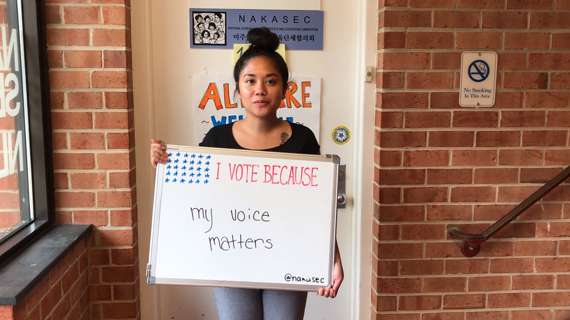 I Vote Because my voice matters
