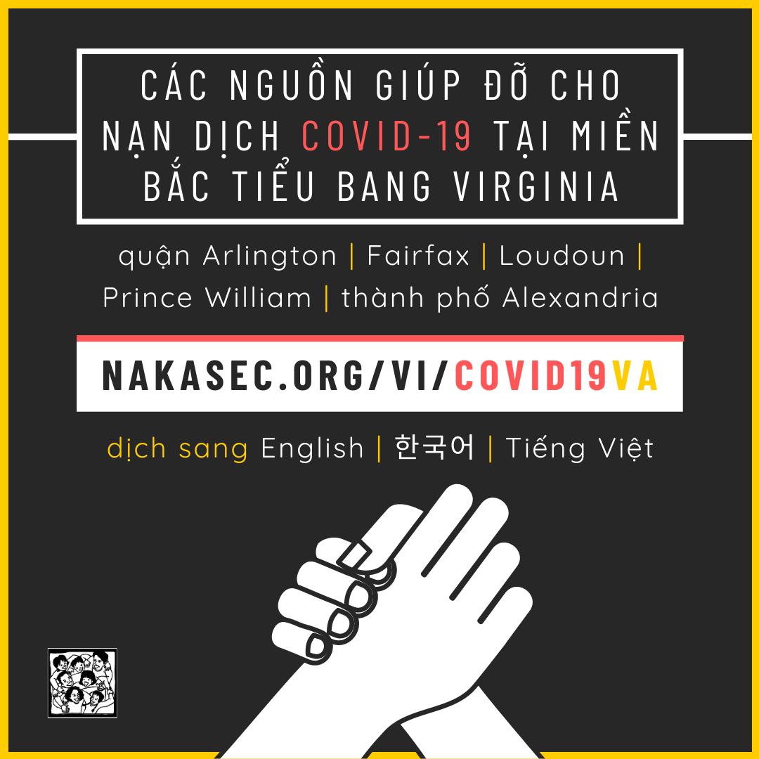Các Nguồn Giúp Đỡ Cho Nạn Dịch COVID-19 Tại Miền Bắc Tiểu Bang Virginia