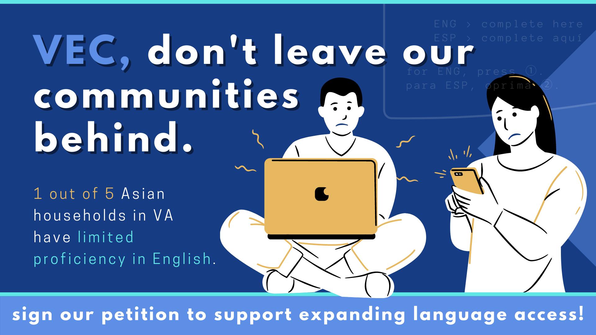 petition demanding VEC to expand language access