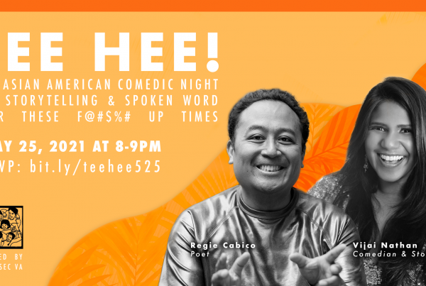 TEE HEE: An Asian American Comedic Night Of Storytelling & Spoken Word For These F@#$%# UP Times event flyer