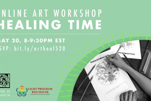 Online Art Workshop - Healing Time event flyer