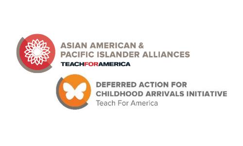 Teach for America AAPI Alliances & DACA Initiative logos